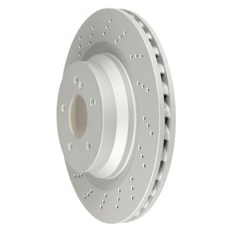 Zimmermann® - Coat-Z Drilled Vented 1-Piece Rear Brake Rotor