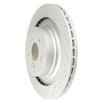 Zimmermann® - Coat-Z Drilled and Slotted Vented 1-Piece Rear Brake Rotor