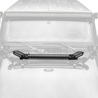 "Zroadz® - Hood Hinge Mounted 20"" and Two 6"" LED Light Bars"