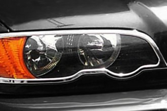 Zunden® BMW-F-Trim-E46-2DR - Chrome Headlight Bezels