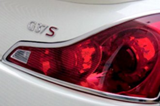 Zunden® IN-R-TRIM-G37-2D - Chrome Tail Light Bezels