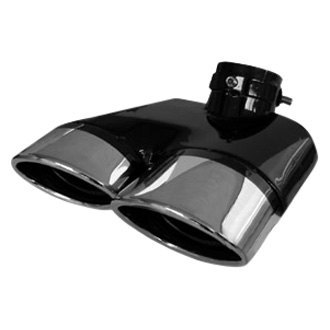 Zunden® - Stainless Steel Oval Clamp-On Dual Exhaust Tips